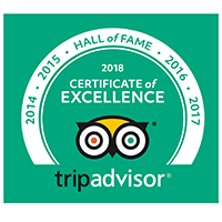 HALL OF FAME 2014 ~ 2018   Trip Advisor Certificate of Excellence